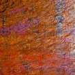 Grunge paint on metal background — Stock Photo