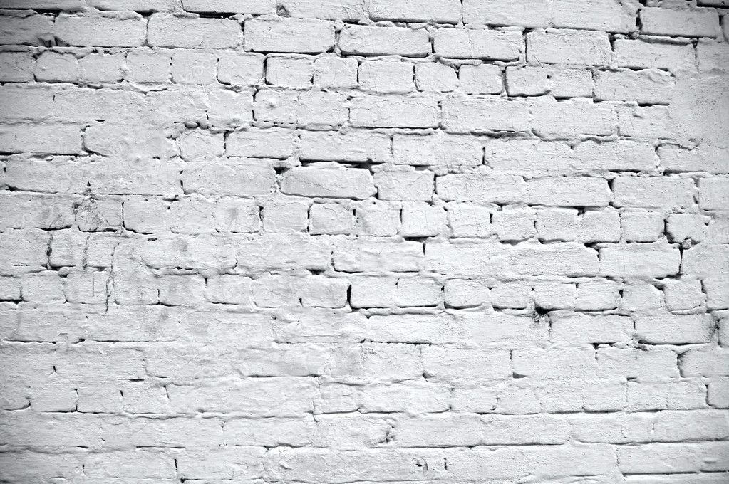 White Brick Wall Texture Stock Photo 1025125
