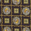 Patterned beautiful background of fabric — Stock Photo