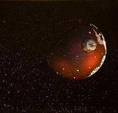 коллаж: сфера и пространства — Стоковое фото