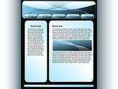 BlauePage — Stock Vector