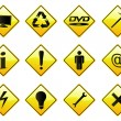 Royalty-Free Stock Vector Image: RoadSigns