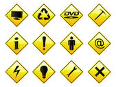 RoadSigns — Stock Vector