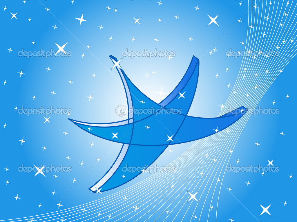Volume blue star — Image vectorielle #1038898