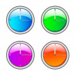 Stock Vector: ColorClock