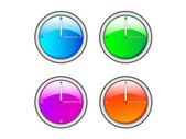 ColorClock — Stock Vector