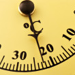 Stock Photo: Centigrade analog thermometer
