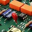 Circuit board isometric view - Stock Photo