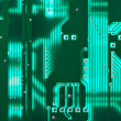 Green circuit board - Stock Photo