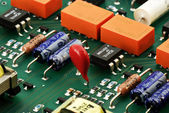 Circuit board isometric view — Stock Photo