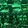 Back lighted green circuit board — Stock Photo #1036459