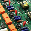 Circuit board side view - Stock Photo