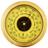Aneroid barometer above view — Stock Photo