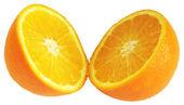 Orange divided in half — Stock Photo