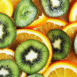 Royalty-Free Stock Photo: Slices of orange and kiwi