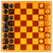 Chess board above view - Stock Photo