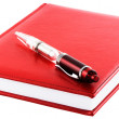 Red personal organizer - Stock Photo