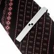 Necktie with tie-pin — Stock Photo