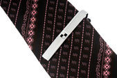 Necktie with tie-pin — Stock Photo