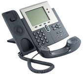Office digital telephone set, off-hook — Stock Photo