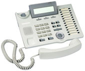 Office digital telephone off-hook — Stock Photo