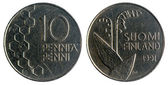 Finnish coin, 1991 year — Stock Photo