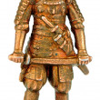 Samurai miniature statuette — Stock Photo