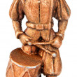 Drummer miniature statuette — Stock Photo