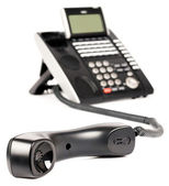 Office digital phone off-hook — Stock Photo