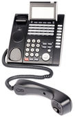 Digital telephone off-hook — Stock Photo