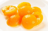 Apricot halves — Stock Photo