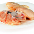 Stock Photo: Fresh filleted chicken on plate