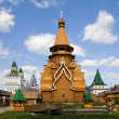 Wooden church in Izmaylovskiy Kremlin — Stock Photo