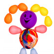 Royalty-Free Stock Photo: Merry manikin from balloons