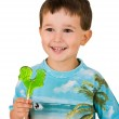 Boy with a lollipop — Stock Photo #1096758