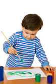 The child with paints — Stock Photo