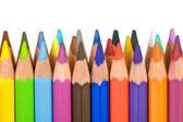 列に並んで立って色鉛筆 — ストック写真