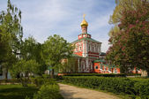 Novodevichy monastery in moscow — Stock Photo