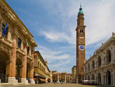 Italy, vicenza, piazza — Stock Photo
