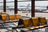 Airport in expectant of passengers — Stock Photo