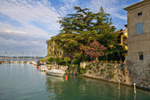 Sirmione port — Stock Photo