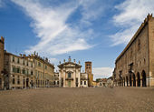 Central area in Mantova — Stock Photo
