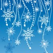 Royalty-Free Stock Imagem Vetorial: Flakes on strings