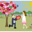 Royalty-Free Stock Imagem Vetorial: The tree of love