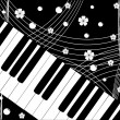 Vector de stock : Piano