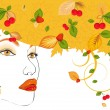Royalty-Free Stock Vector Image: Women autumn