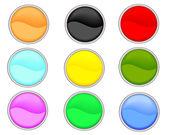 Web buttons — Stock Vector