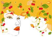Women autumn — Stock Vector