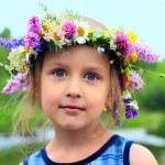 Girl in the wreath — Stock Photo #1018532