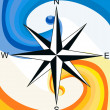 Stock Photo: Wind Rose.